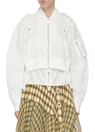 DOUBLE LACE CROP BOMBER JACKET ダブルレースボマージャケット