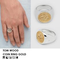 【UNISEX/人気・完売必須】TOM WOOD・9K GOLD×SILVER COIN RING