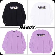 [ NERDY ]★韓国大人気★Wave-cut Logo Long Sleeve T-shirt