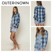 Outer known(アウターノウン) ブラウス・シャツ 【Outer known】レディース BLANKET シャツ-PUGET PLAID