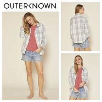 Outer known(アウターノウン) ブラウス・シャツ 【Outer known】レディース BLANKET シャツ-Half Light Little