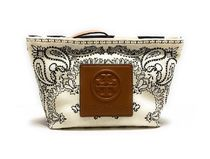 TORY BURCH GRACIE PRINTED CANVAS COSMETIC POUCH 65174