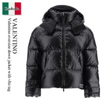 Valentino oversize down jacket with vltn tag