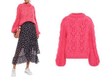 Ganni セール☆mohair and wool-blend sweater(pink)