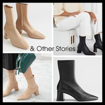【& Other Stories】新作! Heeled Leather Sock Boots 2色