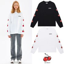 【KIRSH】20fw MIDDLE CHERRY LONG SLEEVE Tシャツ Black/White