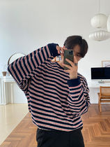 [ASCLO] Levi Biker Stripe Long Sleeve T-Shirt (3 Color)
