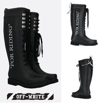 【OFF-WHITE】VIPで関送込★ウェリントンブーツFor Riding