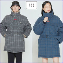 ROMANTIC CROWN★ Unisex ★CHESTERFIELD CHECK PARKA_2色
