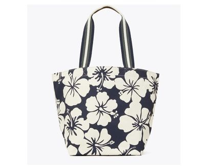Tory Burch トートバッグ TORYBURCH GRACIE PRINTED CANVAS TOTE 65044 即日発送可!(4)