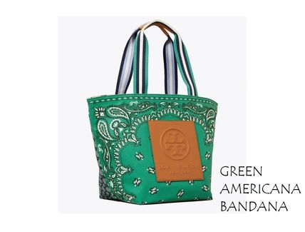 Tory Burch トートバッグ TORYBURCH GRACIE PRINTED CANVAS TOTE 65044 即日発送可!(6)