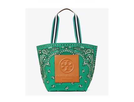 Tory Burch トートバッグ TORYBURCH GRACIE PRINTED CANVAS TOTE 65044 即日発送可!(7)