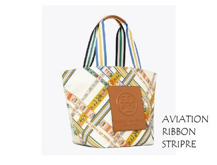 Tory Burch トートバッグ TORYBURCH GRACIE PRINTED CANVAS TOTE 65044 即日発送可!(14)