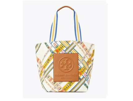 Tory Burch トートバッグ TORYBURCH GRACIE PRINTED CANVAS TOTE 65044 即日発送可!(15)