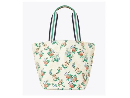 Tory Burch トートバッグ TORYBURCH GRACIE PRINTED CANVAS TOTE 65044 即日発送可!(16)