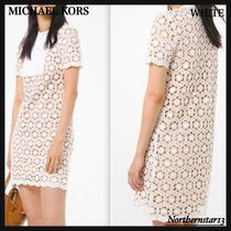 【Michael Kors】Sequined Floral Lace Dress/レースワンピース