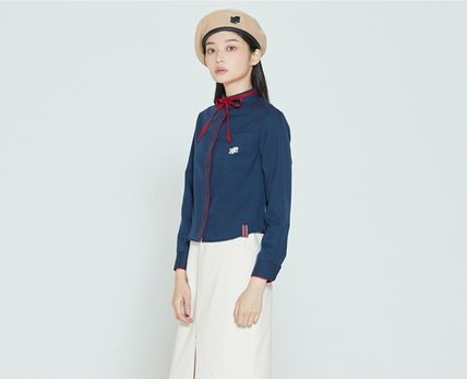 ROMANTIC CROWN ブラウス・シャツ ROMANTIC CROWN★人気★COLLAR RIBBON SHIRT_3色(5)