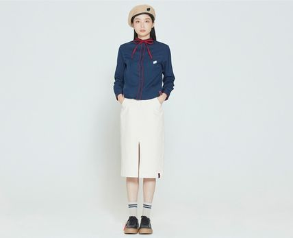 ROMANTIC CROWN ブラウス・シャツ ROMANTIC CROWN★人気★COLLAR RIBBON SHIRT_3色(6)