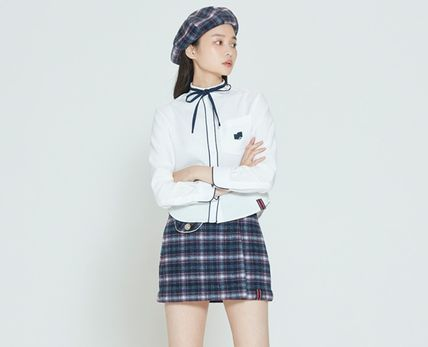 ROMANTIC CROWN ブラウス・シャツ ROMANTIC CROWN★人気★COLLAR RIBBON SHIRT_3色(11)