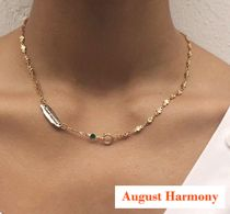 【AUGUST HARMONY】Green star necklace (gold/silver)