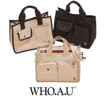 【WHO.A.U】韓国発★Steve Canvas Tumbler Bag ショルダーバッグ