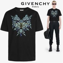 【GIVENCHY】STUDIO HOMME フローラルプリント Tシャツ BLACK