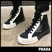 【PRADA】Gabardine High-Top Wheel Sneaker