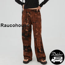 Raucohouse Decalcomani bleached banding pants YJ211 追跡付
