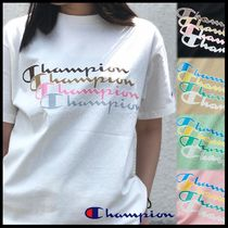 国内発送・正規品★Champion★MEN'S REPEAT LOGO PRINT T-SHIRT