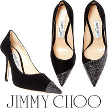 【新作】Jimmy Choo◆Love 100◇Velvet/Glitter Mixパンプス