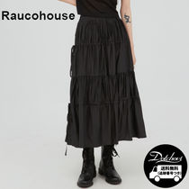 Raucohouse Soft shirred strap long skirt YJ212 追跡付