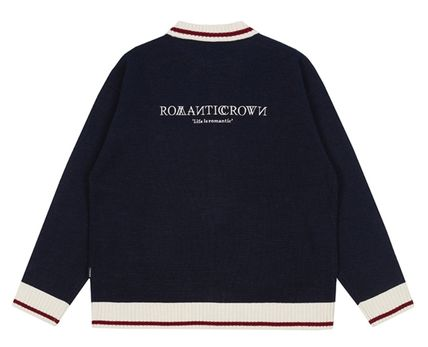 ROMANTIC CROWN カーディガン ROMANTIC CROWN★Unisex★RMTCRW KNITTED CARDIGAN_2色(11)