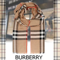 ★BURBERRY★Giant check gauze scarf バーバリーチェック柄♪