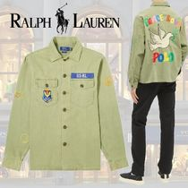 POLO RALPH LAUREN PEACE LOVE POLO EMBROIDERED JACKET