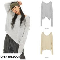 日本未入荷★OPEN THE DOOR★casual stripe hood (2 color