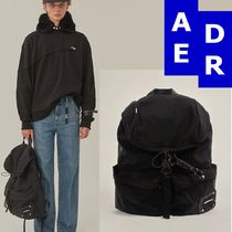 ★Adererror★Torn label backpack BLACK