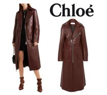 [関税・送料込] CHLOE☆Zip-detailed leather coat
