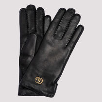 【ヨーロッパ限定】Leather gloves with Double G