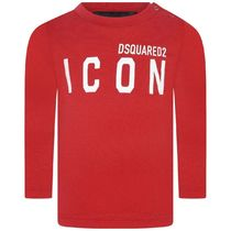 2020AW DSQUARED2 Baby ICONロゴロングTシャツ RED (CP-36m)