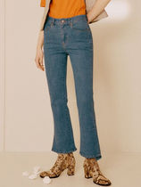 [ANDERSSON BELL]ASYMMETRIC BOOTS-CUT CROP JEANS★ジーパン
