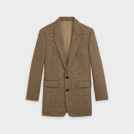 【CELINE】CLASSIC JACKET IN PRINCE OF WALES★チェックウール