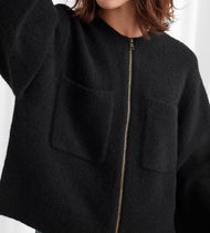 """""""& Other Stories"""" Knitted Zip Cardigan Black"""