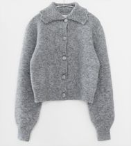 """""""& Other Stories"""" Statement Collar Knit Cardigan Gray"""