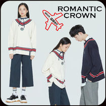 【ROMANTIC CROWN】SUNDAY SYNDROME CLASSIC V NECK KNITWEAR
