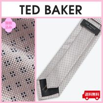 【TED BAKER】隠れキリン マイクロ花柄シルクネクタイ  関送込☆