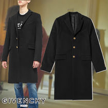 GIVENCHY☆WOOL CASHMERE CHESTERFIELD COAT スマートなスタイル