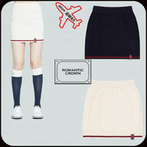 【ROMANTIC CROWN】 WOMANS CABLE KNIT MIDI SKIRT★2色