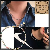 BTS 愛用★VINTAGE HOLLYWOOD★Pearl n Crystal Beads Necklace