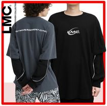 韓国の人気☆【LMC】☆LMC PIPE LINE LAYERED LONG SLV TEE☆2色