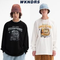 【WKNDRS】20fw COLLEGE RING LS T-SHIRT Black/White